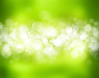 Sunny abstract green nature background. And bokeh lights Royalty Free Stock Photos