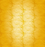 Sunny abstract linear pattern. Doodle design. Yell Stock Photography