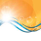 Sunny abstract sun ray background Stock Images