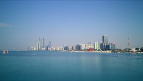 Sunny abu dhabi panoramic 4k time lapse Royalty Free Stock Photo