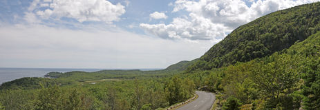 Sunny Acadia Loop Road Royalty Free Stock Images