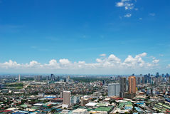 Sunny Aerial City View Panorama Stock Images