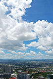 Sunny Aerial City View Panorama Royalty Free Stock Photos
