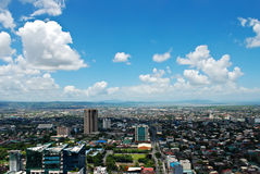 Sunny Aerial City View Panorama Royalty Free Stock Image