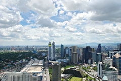 Sunny Aerial City View Panorama Stock Photography
