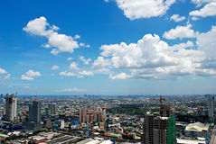 Sunny Aerial City View Panorama Royalty Free Stock Photo