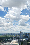 Sunny Aerial City View Panorama Royalty Free Stock Images