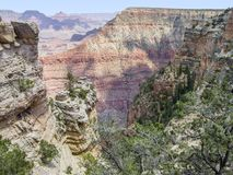 Grand Canyon in Arizona. Sunny aerial view at the Grand Canyon National Park in Arizona, USA Stock Images