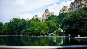Sunny afternoon at Central Park overlooking the po Royalty Free Stock Images