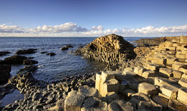Sunny afternoon at the famous Giant's Causeway Stock Images