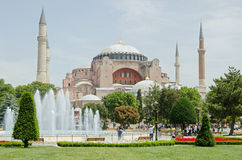 Sunny afternoon at the Hagia Sophia landmark, Istanbul Stock Image