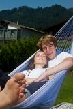 Sunny afternoon in the hammock Royalty Free Stock Photography
