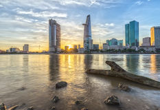 Sunny afternoon on the Ho Chi Minh City, Vietnam Stock Image