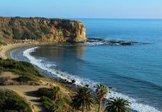 Sunny Afternoon på sylten för Abaloneliten vikShoreline på Palos Verdes Peninsula, Los Angeles, Kalifornien Royaltyfria Foton