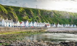 Sunny afternoon in Pennan, small village in Aberdeenshire, Scotland. Stock Image