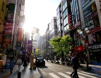 Sunny afternoon in Tokyo. People roam the streets of Tokyo on a Sunny afternoon Stock Photos