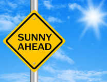 Sunny Ahead Stock Images