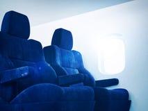 Sunny airplane interior Royalty Free Stock Photography