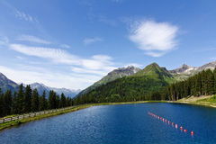 Sunny Alps Lake Stock Photography