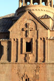 Sunny ancient church. The sunny ancient armenian apostolic church in summer Stock Photography