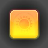 Sunny app icon. Vector design element Royalty Free Stock Photo