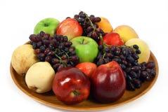 Sunny Armenian Fruits. Assorted Armenian fruits on tray Stock Photo