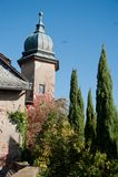 Sunny autumn  day in Baden Baden. Bavaria. Sunny autumn day in Baden Baden. Bavaria. Castle and trees Stock Image