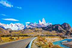 The sunny autumn day in Patagonia Stock Image