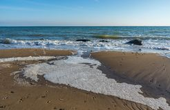 Sunny autumn day by the sea. Sunny autumn day on the seashore near the village of Fontanka, Odessa region, Ukraine stock images