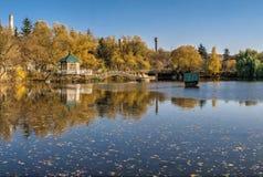 Free Sunny Autumn Evening On The Blue Lake Stock Image - 187227141