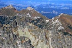 Sunny autumn view in High Tatras and Belianske Tatras, Slovakia royalty free stock images