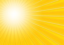 Sunny background. Yellow abstract background; vanishing point; 3D effect royalty free illustration