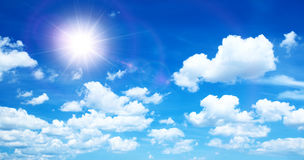 Sunny background with clouds Stock Photo