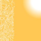 Sunny background with hand drawn ornament Stock Photo