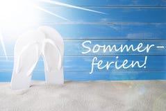Sunny Background, Sommerferien-de Vakantie van de Middelenzomer Royalty-vrije Stock Foto