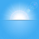 Sunny background and water Royalty Free Stock Photo