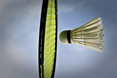 Sunny badminton royalty free stock photography
