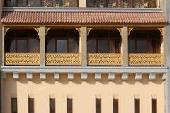 Sunny Balcony. Just a nice balcony of building Stock Photos