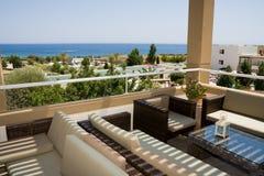 Free Sunny Balcony Over A Sea Stock Image - 12657041