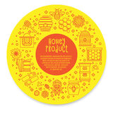Sunny Banner honey product. Stock Photos
