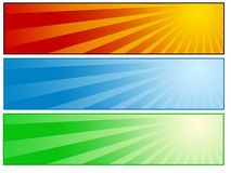 Sunny banner set Royalty Free Stock Images
