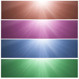 Sunny banners royalty free stock photos