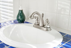 Sunny Bathroom Sink Stock Photo