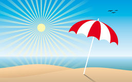 Sunny beach Stock Photography