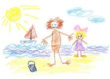 Sunny beach Stock Photography