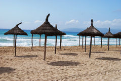 Sunny beach. Beautiful sunny beach in Palma de Mallorca Royalty Free Stock Image