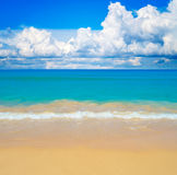 Sunny beach background. Royalty Free Stock Images