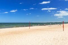 Sunny beach at Baltic Sea in Sopot. Poland Stock Photography