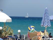 Sunny beach. Sunny beatch at Zakynthos Royalty Free Stock Images