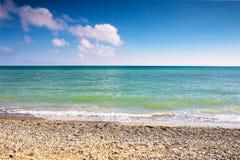 Sunny beach of Black Sea, Russia Stock Photography
